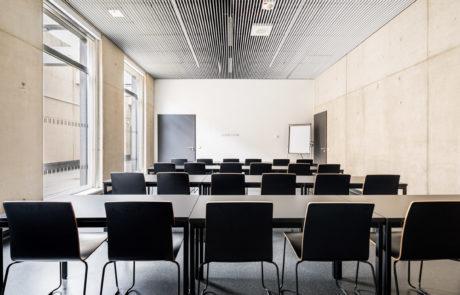 Seminarraum letzte Reihe